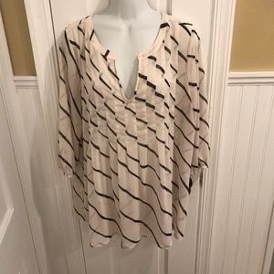 Cream striped tunic